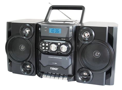 cd radio cassette player naxa portable mp3 cd player stereo radio cassette