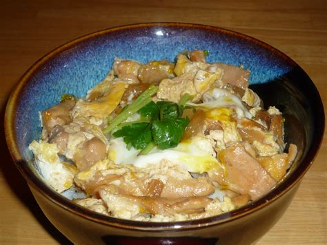 oyakodon chicken  egg rice bowl japanese build