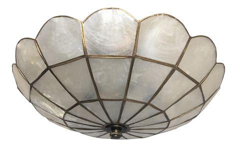 Shell Ceiling Light 1950s Capiz Shell Ceiling Light Chairish