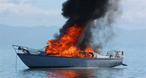 fishing boat fire nz firefighters in action boat on fire nelson