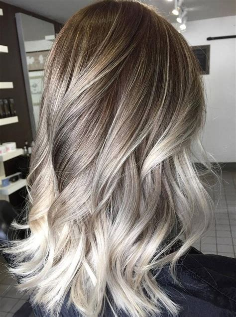 platinum blonde and dark brown highlights platinum blonde highlights on dark blonde hair 60 balayage