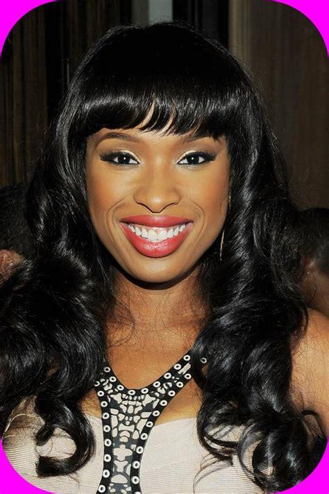 black hairstyles long hair bangs long black female hairstyles with bangs black female