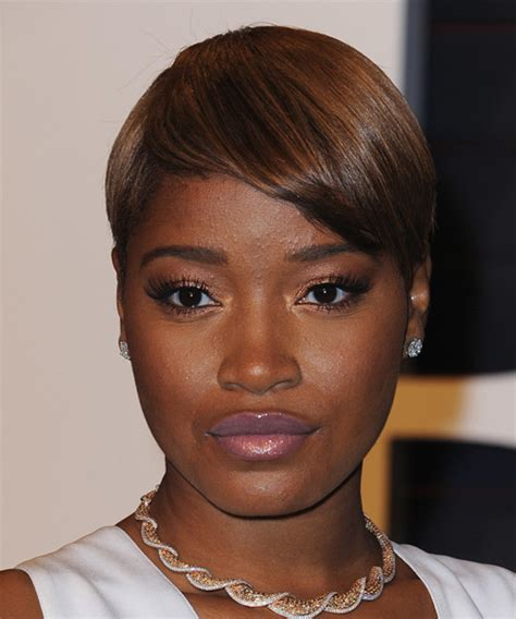 keke wyatts short cut with long front keke palmer short straight formal hairstyle dark brunette