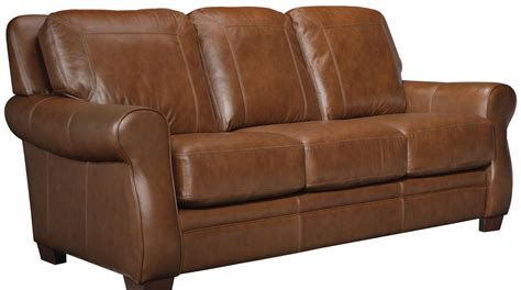 The Leather Factory Sofa by Leather Craft Orangeville Stationary Sofa Bothwell Furniture