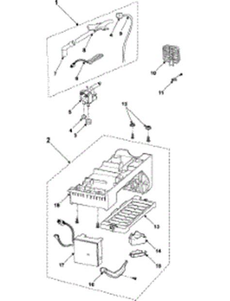 samsung refrigerator maker parts diagram parts for samsung rs2630sh refrigerator