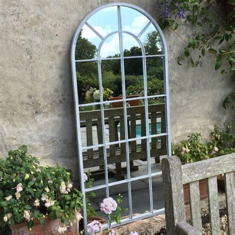 Ideas Design For Arched Window Mirror 14 Simple But Attractive Garden Doors And Garden Mirrors