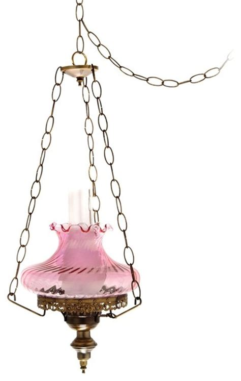 Pink Swirl Tamoshanta 13 Quot Wide Plug In Style Swag Swag Style In Chandelier