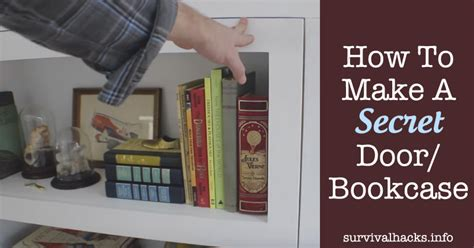 how to make a secret door bookcase grid