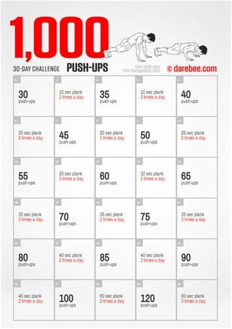 push ups challenge 1000 ideas about push up challenge on push up