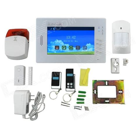 colour full dp dp x6 7 quot full touch color screen wireless alarm system