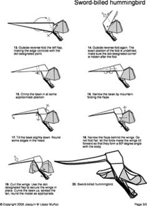 Origami Hummingbird Step By Step - origami hummingbird necklace craft ideas