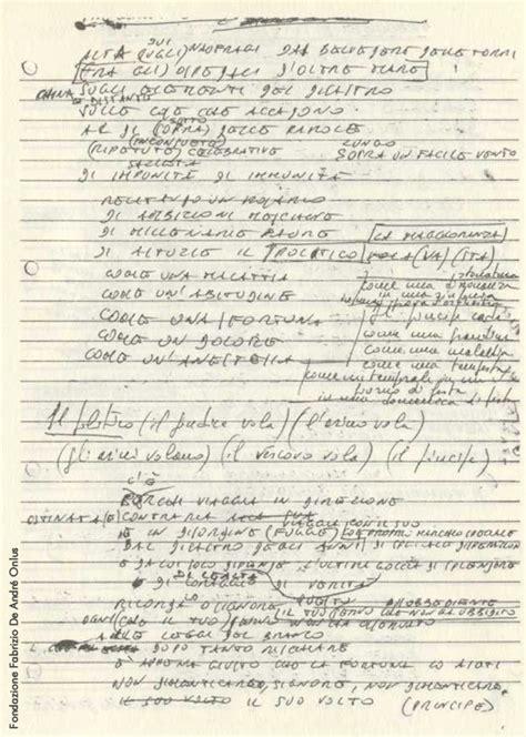 smisurata preghiera testo fabrizio de andr 233 sito ufficiale parole