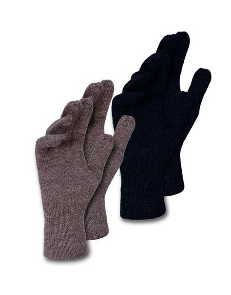 Plain Gloves shop acrylic gloves for mens plain p2 at woollen wear