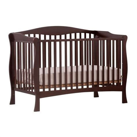 Stork Craft Savona Fixed Side Convertible Crib In Espresso Convertible Crib Espresso