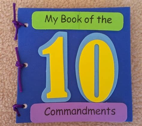 10 commandments crafts for petersham bible book tract depot my book of the ten