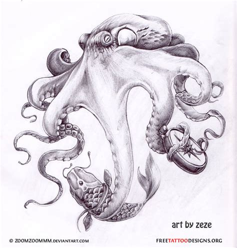 octopus design tattoo realistic octopus jpg 667 215 700 pixels inkspiration