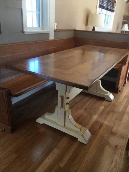 double pedestal  farmhouse table    home