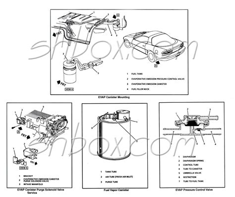 Fuel System Evaporator Canister Purge Valve Solenoid Location 2006 Chevrolet