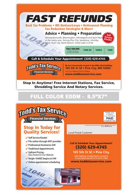 Page Not Found Print Label And Mail Tax Preparation Postcards Templates