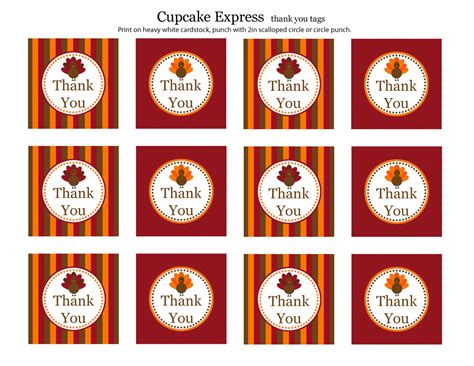 printable thanksgiving tags free thanksgiving party printables from cupcake express