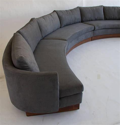 Semi Circle Sofa Sectional Custom Semi Circular Sectional By Carson S Of Carolina At 1stdibs