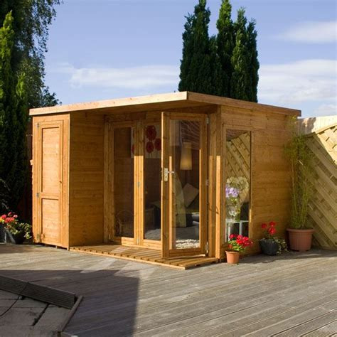 side house shed 10 x 8 waltons contemporary summerhouse with side shed rh