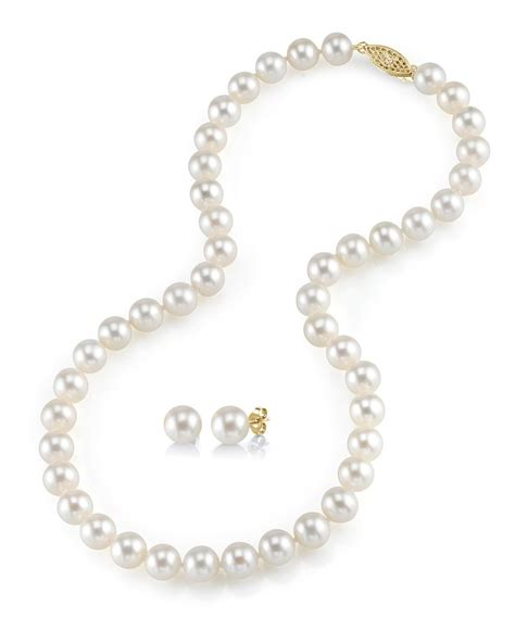 pearls jewelry 7 8mm freshwater pearl necklace earrings