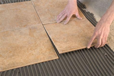 laser level  laying tiles