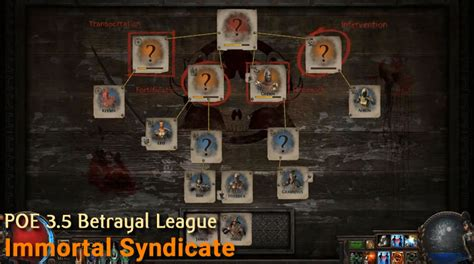 The Immortal Betrayal path of exile betrayal complete introductions immortal