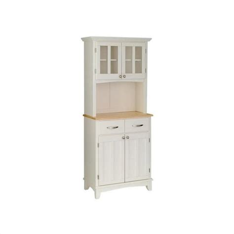 white buffet with hutch white wood buffet with wood top and 2 door panel hutch 5001 0021 12