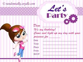 card invitation design ideas printable birthday invitation cards image pattern