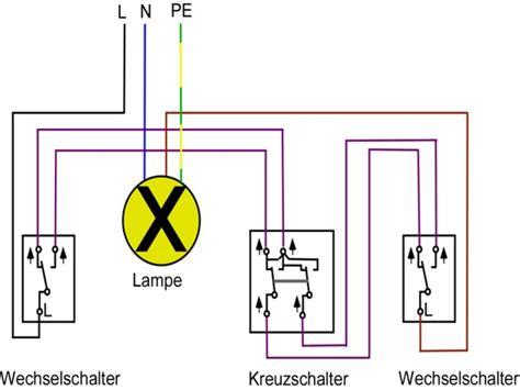 Kreuzschaltung Mit Bewegungsmelder by Elektrischer Schalter Anschlie 223 En Sosskachat