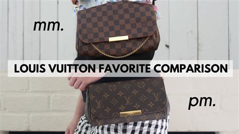 louis vuitton favorite mm  pm comparison youtube