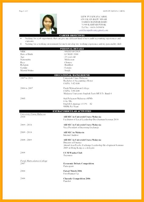 format cv malaysia styles best resume template malaysia best resume template