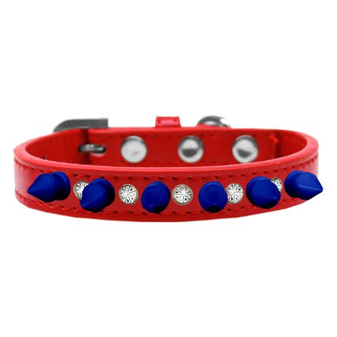 spikes dogs crystals and blue spikes collar with same day shipping baxterboo