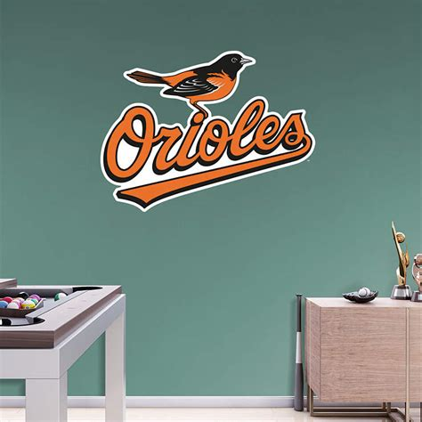 Orioles Bedroom Decor by Baltimore Orioles Logo Wall Decal Shop Fathead 174 For