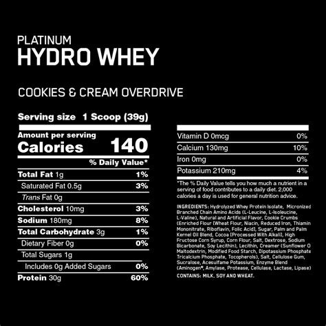 Hydro Whey Protein platinum hydrowhey optimum nutrition