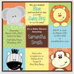 free printable baby shower invitations stylish jungle animals printable baby shower or