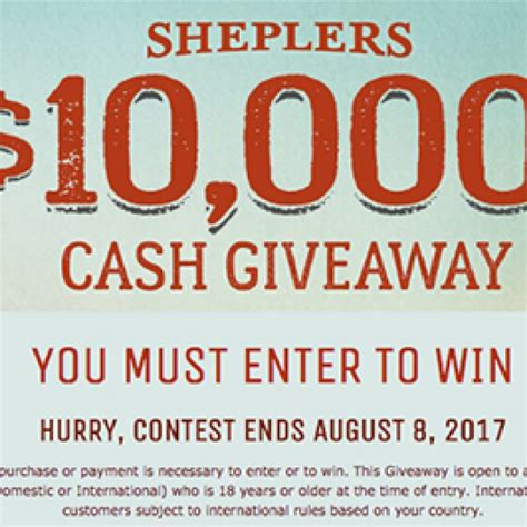 Chances To Win Money - sheplers win 10 000 granny s giveaways