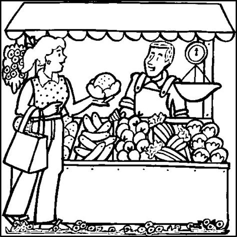 free to market to market coloring pages