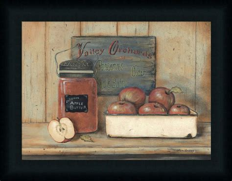 Wall Decor Printed Poster Poster Kayu Kitchen apple butter country kitchen still framed print wall d 233 cor picture ebay