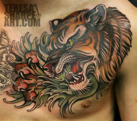 fort wayne tattoo killer chest by teresa sharpe at studio 13