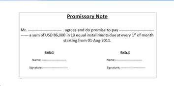 simple promissory note template word sle of promissory note format in ms word wordxerox