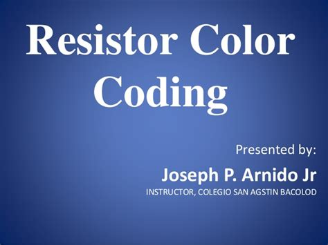resistors slideshare resistor color coding slideshare 28 images resistor colourcode technicalreferences digital