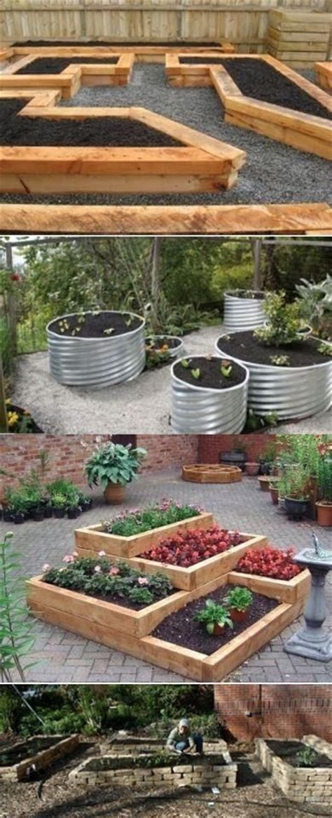 Raised Garden Bed Design Ideas Raised Bed Garden Ideas Outdoors Home Pinterest