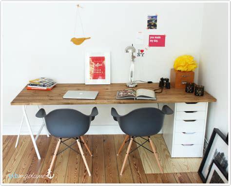 Schreibtisch Aus Arbeitsplatte Selber Bauen by Diy Schreibtisch G 252 Nstig Schnell Den Schreibtisch