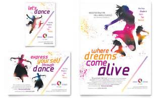 dance studio flyer amp ad template word amp publisher