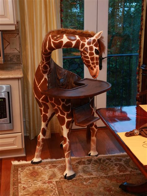 coolest high chair looks like a giraffe techeblog
