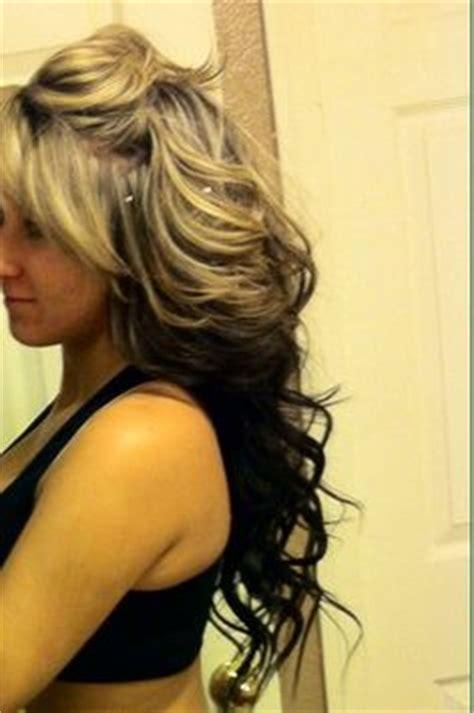 dark hair underneath light on top highlights on top dark underneath black hair with blonde