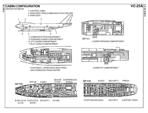 floor plan of air force one vc 25a air force one